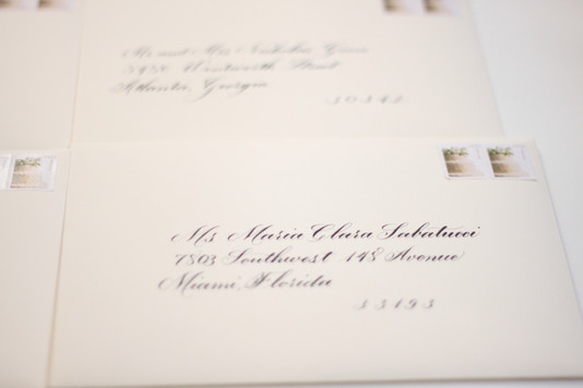 Envelope Calligraphy in Miami