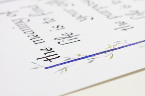 Italic Calligraphy Custom Order