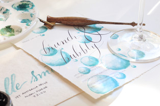 Custom Watercolor Wedding Inviations
