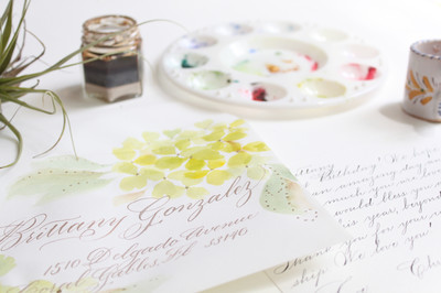 Calligraphed Birthday Card