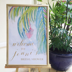 Welcome Watercolor and Calligraphy Poster