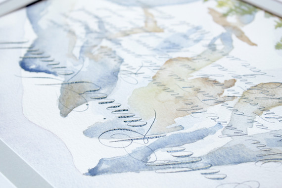 Custom Created Watercolor and Calligraphy Namesake