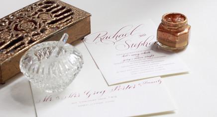 Custom Calligraphy Wedding Inviations