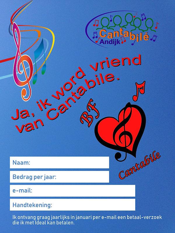 Flyer 2 ik word vriend van Cantabile 201