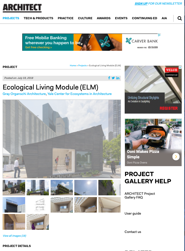 Architect: Ecological Living Module (ELM)