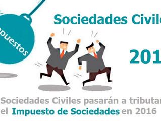 Las sociedades civiles a partir del 2016