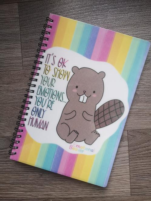 Emotional Beaver A5 Notebook