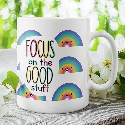 Focus on the Good Stuff Rainbow 11oz Mug