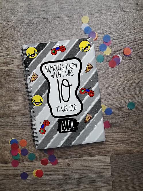 Memories Grey Notebook