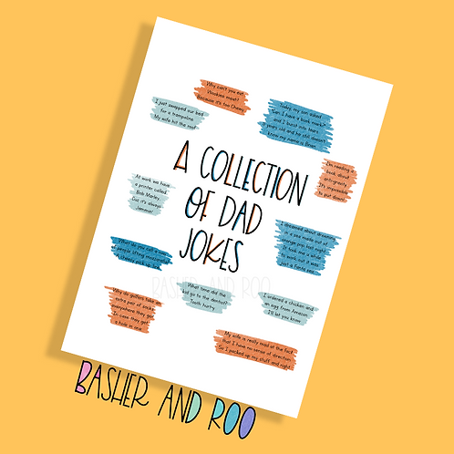 A Collection of Dad Jokes Postcard