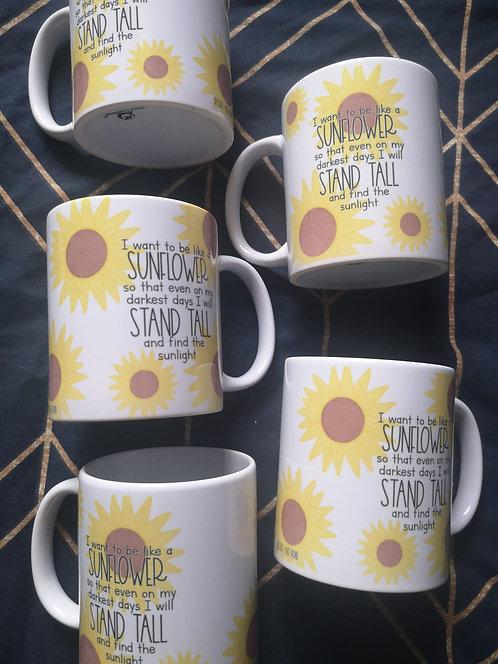 FADED I Want To Be like a Sunflower 11oz Mug SECONDS SALE