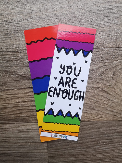 You are Enough Rainbow Bookmark