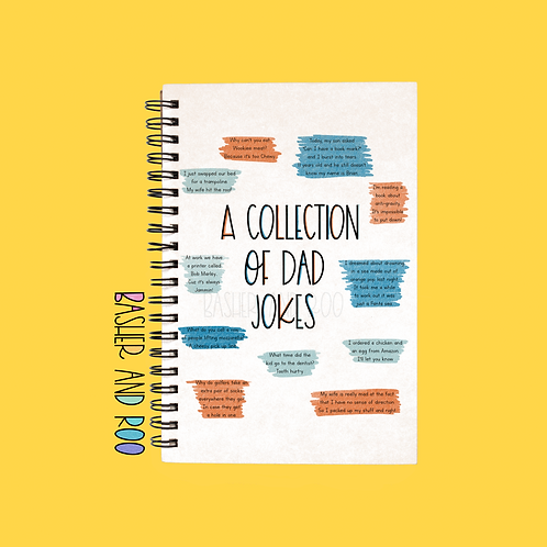 A Collection of Dad Jokes A5 Notebook