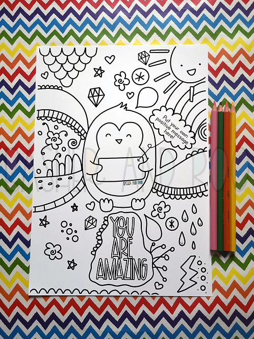 Penguin Colouring Page