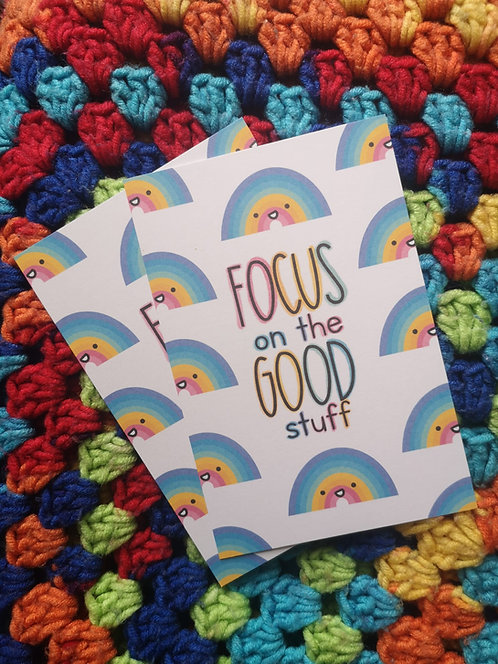 Focus on the Good Stuff Postcard