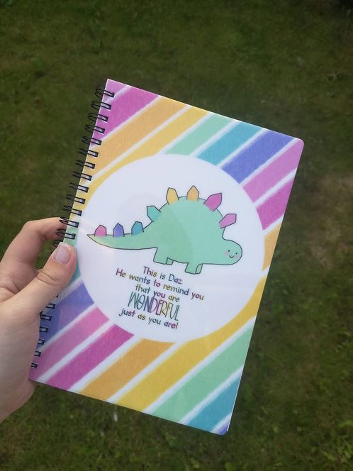 You are Wonderful Just the Way You Are - Daz The Dino A5 Notebook