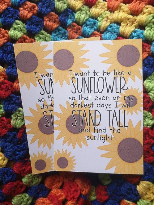 I Want to be Like a Sunflower Postcard