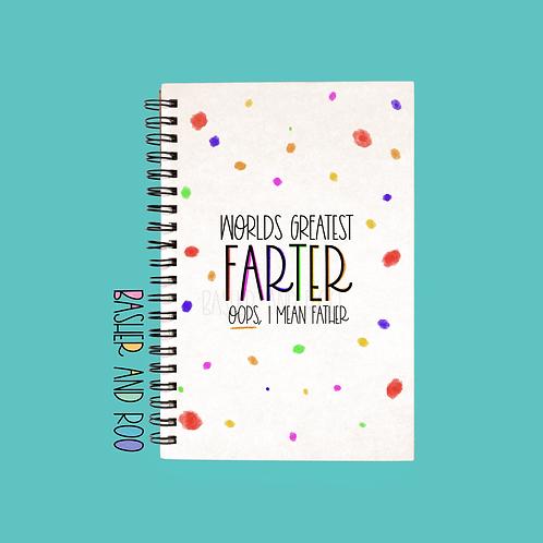 World's Greatest Farter A5 Notebook
