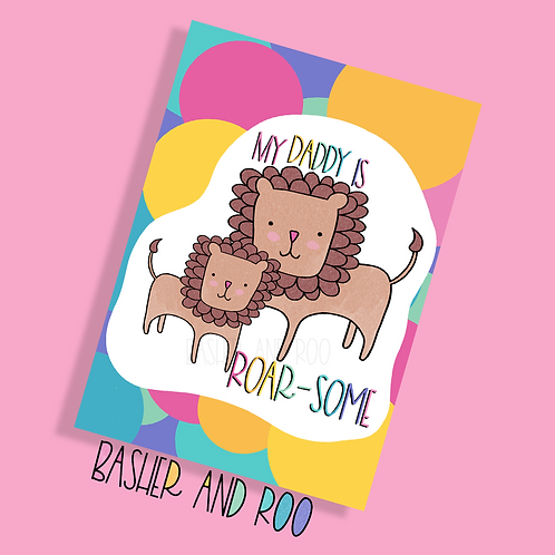 My Daddy is Roarsome Postcard