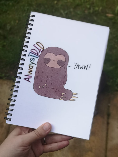 Always Tired Sloth A5 Notebook
