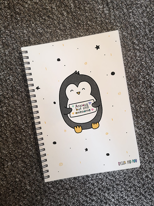 Anxious but Still Awesome A5 Notebook