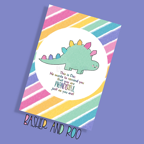 You are Wonderful Just the Way You Are - Daz The Dino Postcard