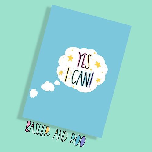 Yes I Can Postcard