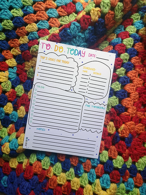 To Do Today Tear-Off Notepad