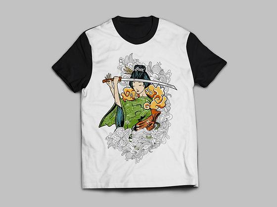 Camiseta Gueixa Samurai