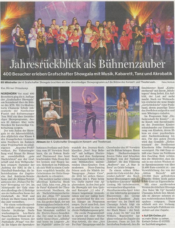 Grafschafter Showgala 2019 - GN  Bericht