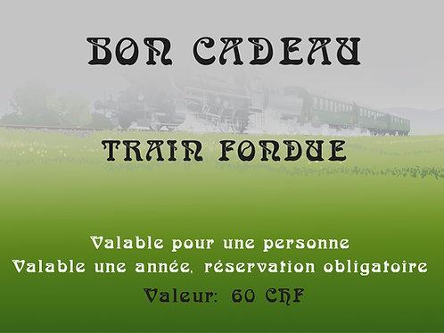 Bon cadeau - Train fondue