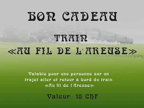 "Bon cadeau - Train ""Au fil de l'Areuse"""