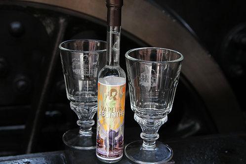 """Coffret Absinthe """"Vapeur"""" + 2 verres"""