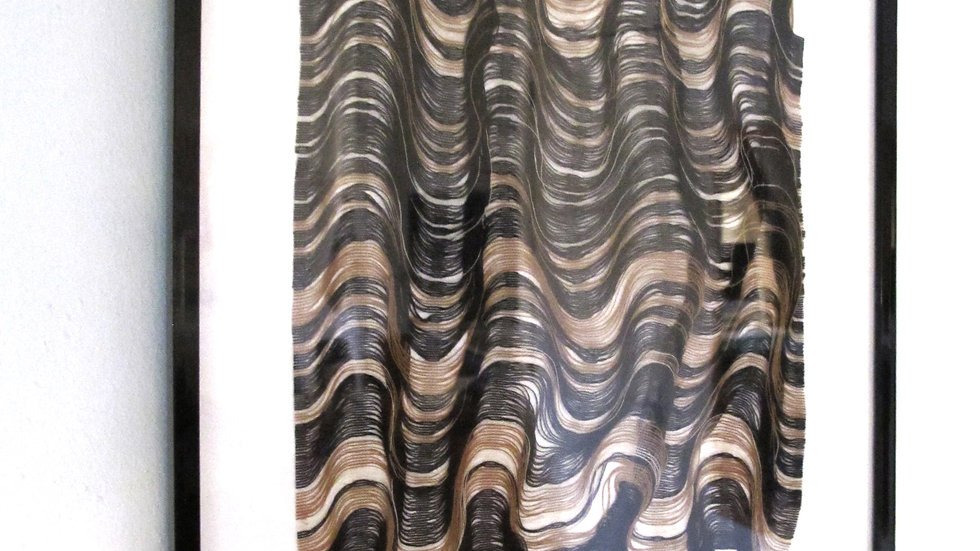 ANAIS DUPLAN - Résonance 2 - Fils de lin, coton et polyester - sous cadre 2