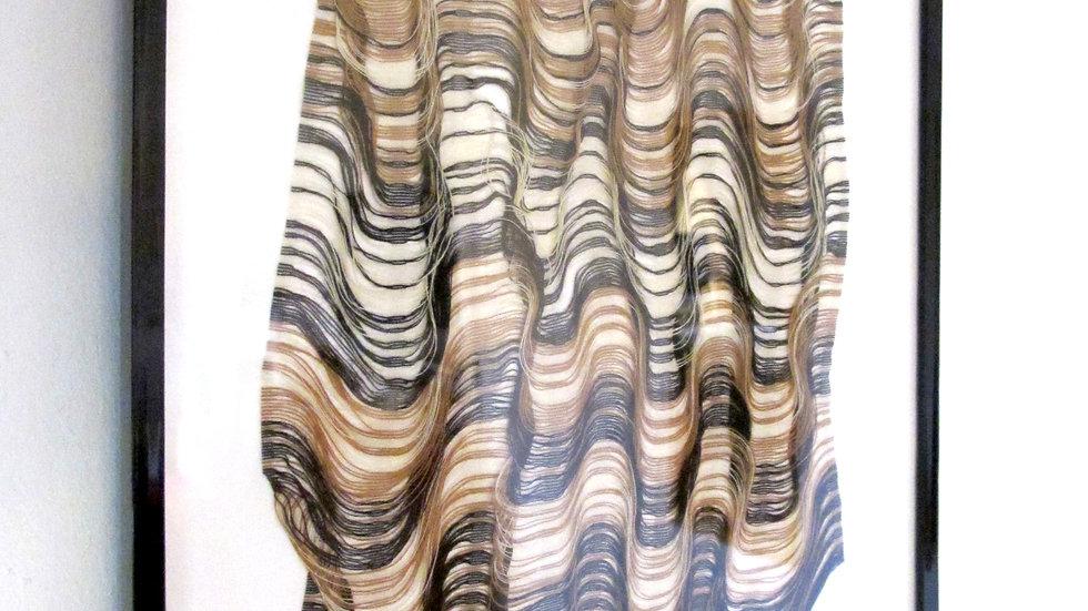 ANAIS DUPLAN - Résonance 1 - Fils de lin, coton et polyester - sous cadre 2