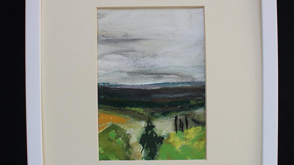 """JAQUELINE FRYD """"Castelnau de Montmiral"""" 33 cm X 34 cm"""