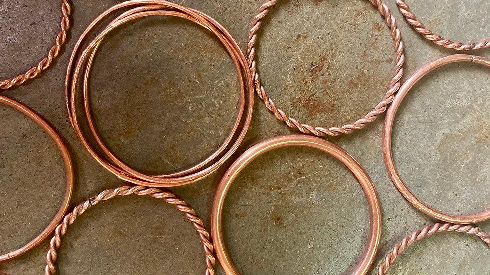 HELENE ET PHILIPPE - Bracelets cuivre
