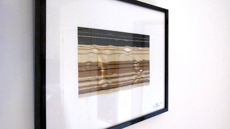ANAIS DUPLAN - Tectonique 3 - Fils de lin - sous cadre 25x19 cm