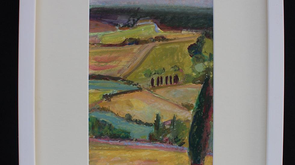 """JAQUELINE FRYD -  """"Castelnau de Montmiral"""" 33 cm X 34 cm"""