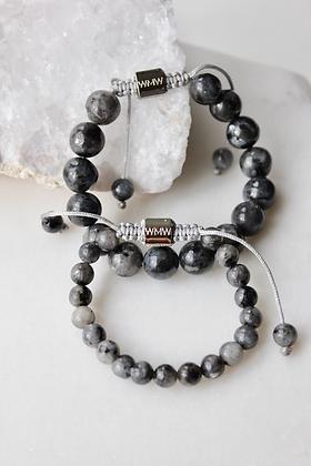 Labradorite Mommy & Me bracelet set