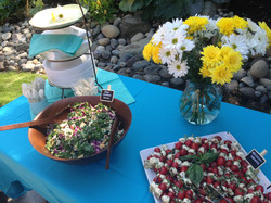 Outdoor Anniversary party for 75 guests
