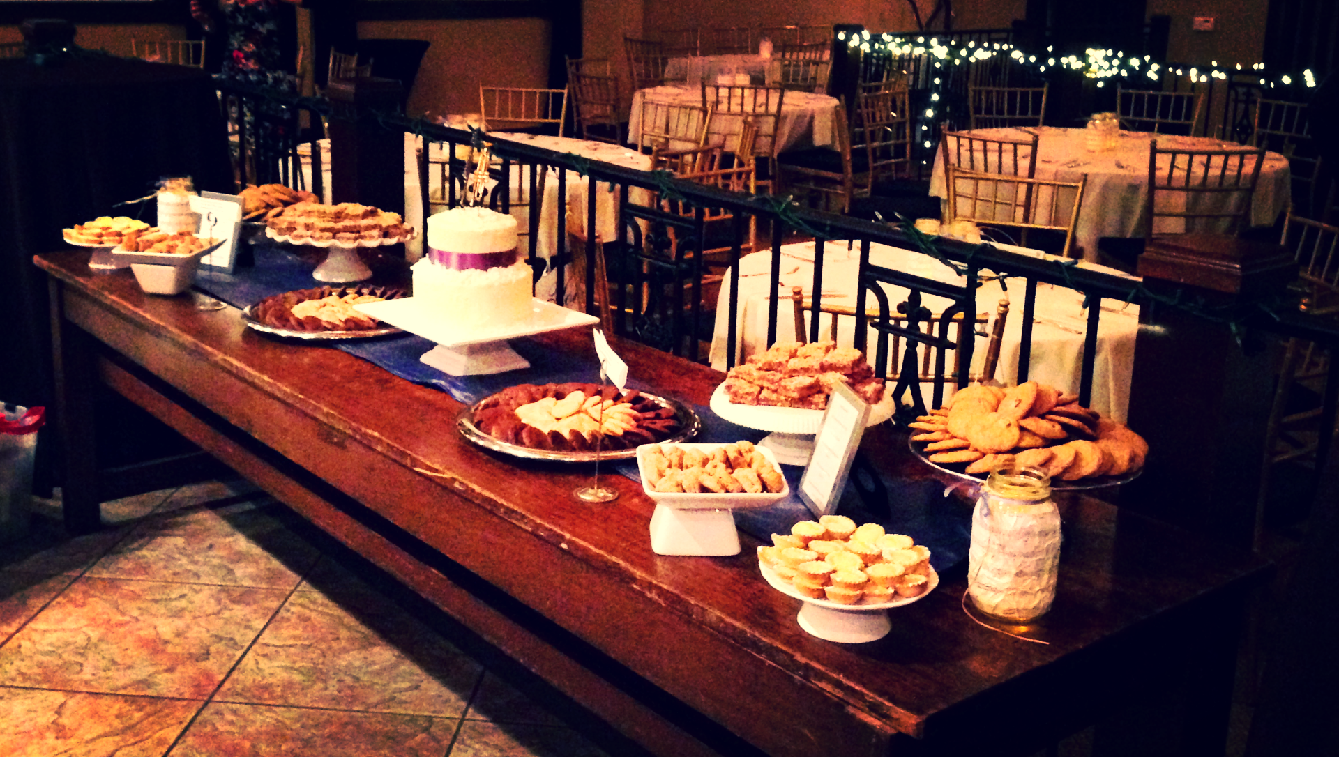 Winter Wedding Dessert Bar