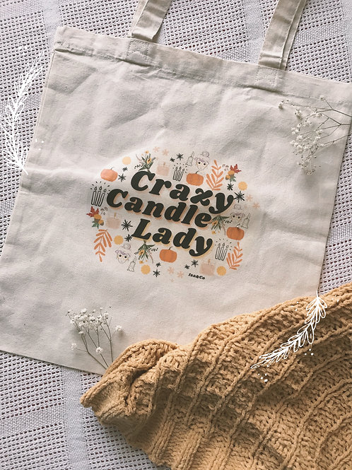 Crazy Candle Lady Tote