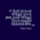 April Paige Quote - Edgar Degas