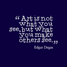 April Paige Quote - Edgar Degas