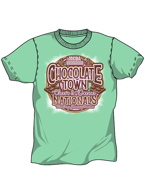 Chocolate Town Cheer and Dance Nationals 2022 Event Shirt