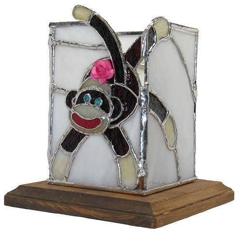 Candle Box - Sock Monkey design