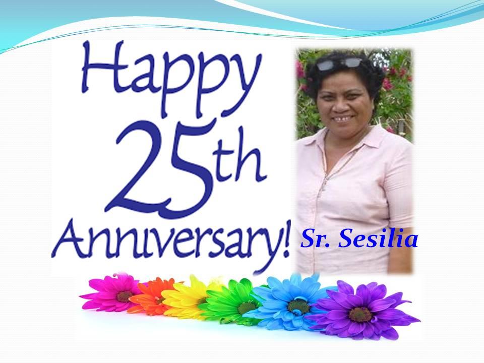 Sr. Sesilia's 25 jubilee
