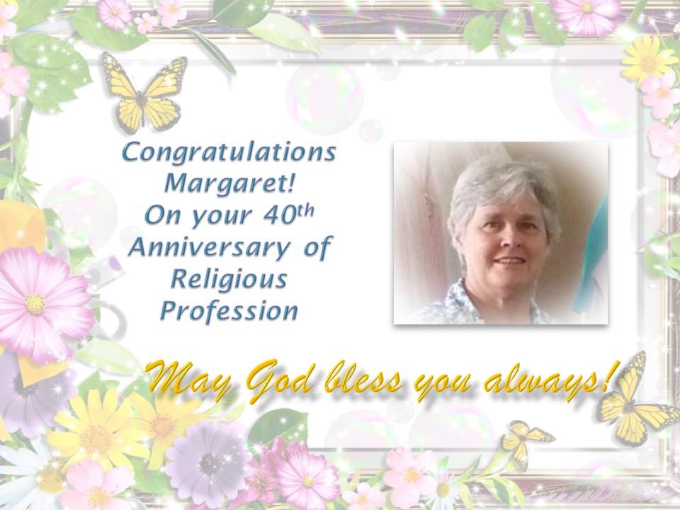 Sr Margaret's 40 jubilee