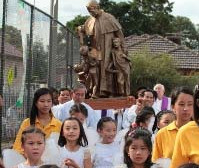 Don Bosco Relic Visits St Margaret Mary's North Brunswick